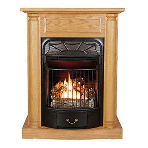 ventless gas stove heater fireplace natural gas propane zone heating