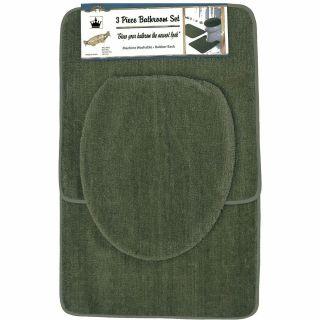 Piece Sage Green Bathroom Set Bath Contour Rug, Toilet seat Cover
