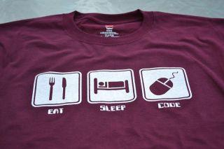 Eat Sleep Code Funny Computer Programmer Program Game Video Geek Nerd