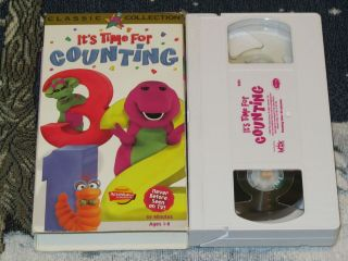 BARNEY ITS TIME FOR COUNTING VHS VIDEO TAPE ACTIMATES STELLA THE