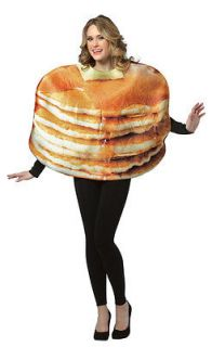 GET REAL STACKED PANCAKES funny mens womens unisex halloween food