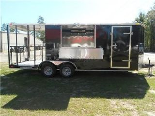 NEW 7x20 7 x 20 Custom Enclosed Concession Food Vending BBQ Trailer w