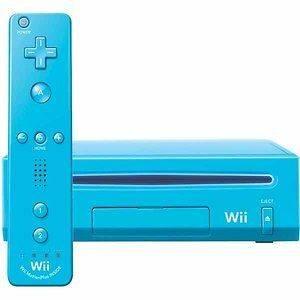 Limited Edition Blue Nintendo Wii console bundle   Remote & Nunckuk