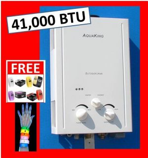 AQUAKING PORTABLE TANKLESS WATER HEATER 6L PROPANE LPG RV CAMPS 3 DAY