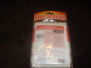 NEW DH 200 DURAHEAT KEROSENE HEATER REPLACEMENT WICK FITS KERO SUN
