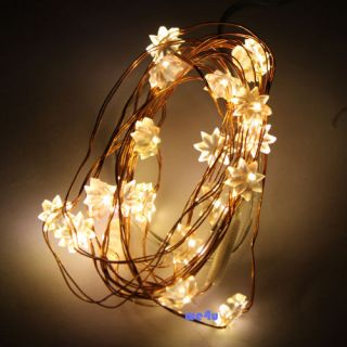 20 LED 2M Copper LED Strip Battery Power Light For Xmas Fairy Wedding
