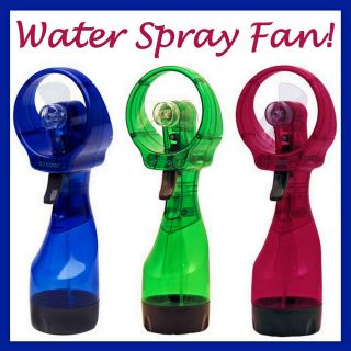 Handheld Water Mist Spraying Spray Misting Cooling Cool Battery Fan