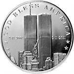God Bless America 9/11 10th Anniversary 1 Troy Oz. .999 Fine Silver