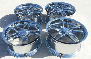 18/19 Chrome Deep dish C6 Z06 Style Corvette Wheels C5/C6 fitment