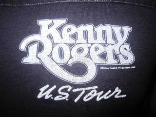 80s KENNY ROGERS T Shirt SMALL/MEDIUM country rock concert tour soft