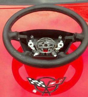 Corvette C5 Steering Wheel Black Leather 97 98 99 00 01 02 03 04