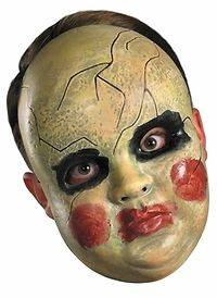 Smeary Doll Face Mask Holloween Holiday Costume Party (Size Standard