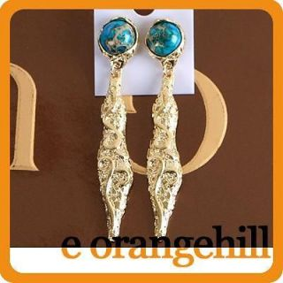 Vintage Antique Style Jewelry 12K Gold GP Stud Fashion Earrings