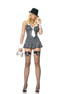 Leg Avenue Sexy GANGSTER MAFIA Adult Halloween Costume