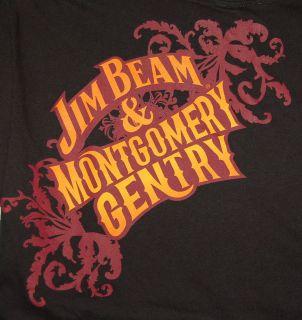 Montgomery Gentry Bourbon Whiskey Country Music T Shirt Black Medium