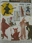 7915 JUMPSUIT COSTUME Sewing Pattern Child Devil Witch Bunny