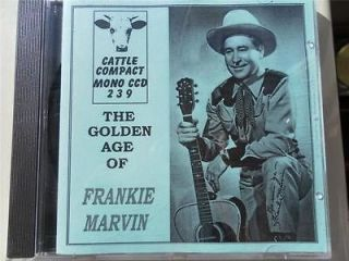 FRANKIE MARVIN  THE GOLDEN AGE OF  WESTERN SWING HILLBILLY COUNTRY
