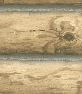 LIGHT BLONDE 6 LOG CABIN WIDE 27 WALLPAPER CH7977