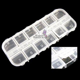 12 Plastic Empty Divided Case Box Nail Art Storage Craft Tool Set Box