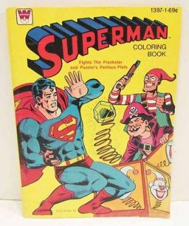 SUPERMAN 1980 WHITMAN COLORING BOOK UNUSED NEVER COLORED DC COMICS
