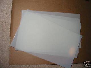 Craft Scrapbooking Stencil MYLAR 4 BLANK SHEETS 14X10