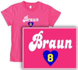 RYAN (heart) BRAUN womens NEW T SHIRT Milwaukee Brewers pick your size