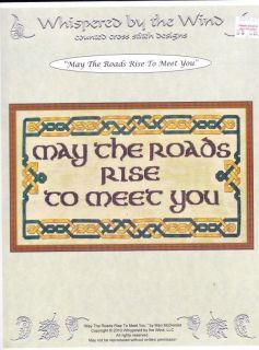 the Roads Rise to Meet You Irish Blessing Cross Stitch Sampler Chart
