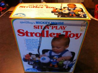 walt disneys mickey mouse  sit n play stroller toy