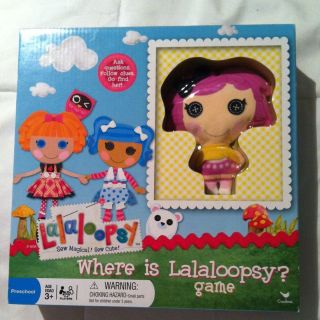 Lalaloopsy Where is Lalalooosy? Board Game New Release New HTF