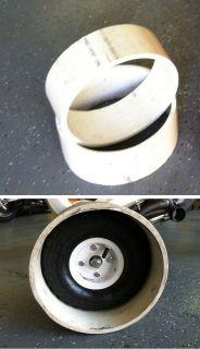 Drift Trike Wheel Sleeves 10 PVC x 4 width