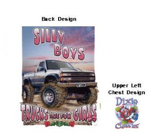 DIXIE T SHIRT SILLY BOYS TRUCKS ARE FOR GIRLS 17281