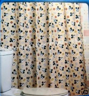 Disney Mickey Mouse Shower Curtain with ring s bathroom home household