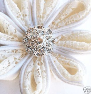 10 Round Circle Rhinestone Crystal Button Buckle Wedding Invitation
