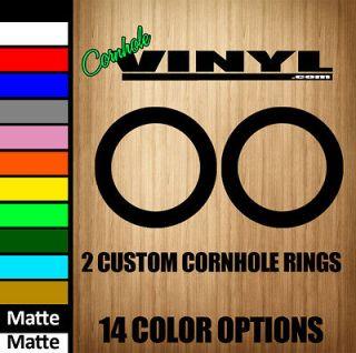 Custom Cornhole 2 Circles Rings Hole Vinyl Decals   14 Colors Game