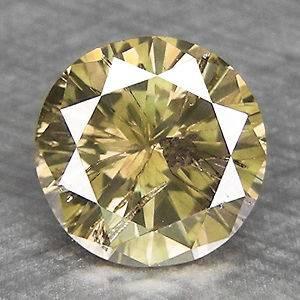 55cts,5.4mm Round Fancy Greenish Gray Natural Loose Diamond