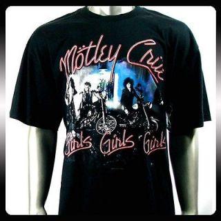 Motley Crue American Heavy Metal Rock T shirt Sz XL Men Punk