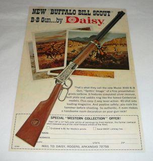 1969 Daisy bb gun air rifle ad page ~ BUFFALO BILL SCOUT