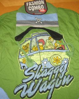 NWT Scooby Doo Mystery Machine Character Shirt & Beanie Hat Size Mens