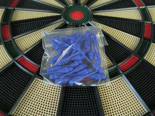NEW BLUE Dimpled DART TIPS for All Electronic Dart Boards 1/4 Thread
