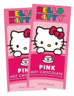 HELLO KITTY PINK HOT CHOCOLATE kid beverage drink Sanrio, Holiday