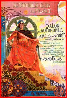 Automobile Car club Belgium Bruxelles Concours Vintage Poster Sign