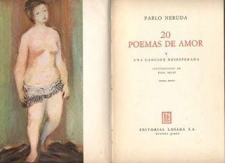 Pablo Neruda Book 20 Poemas De Amor 1966 Losada L@@K