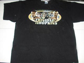 Vtg Felix Trinidad Bernard Hopkins T Shirt XL 01 Boxing