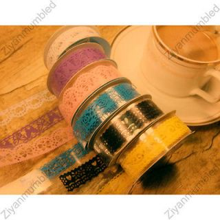 Notebook Craft Packing Lace Adhesive Tape Removable Decoration Sticker