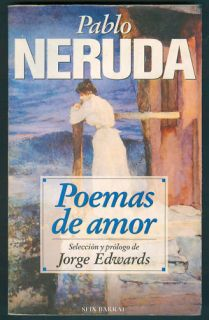 PABLO NERUDA BOOK POEMAS DE AMOR 1° ED SIX BARRAL