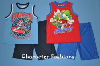 SUPER MARIO KART WII Outfit Size 4 5 6 7 8 Shirt Shorts Set YOSHI