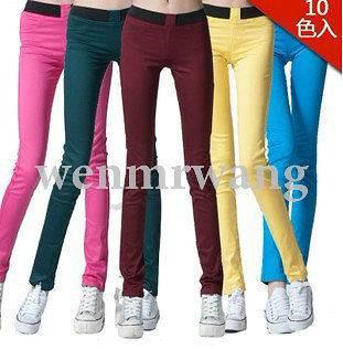 Pants Denim Pencil Trousers Stretch Jeggings Leggings Jean Colors