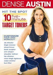 Denise Austin   Hit the Spot 10 Five Minute Target Toners (DVD, 2007)