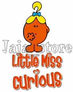 Little Miss Curious T Shirt Iron on Transfer