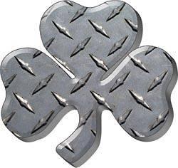 Irish Shamrock Diamond Plate Decal Sticker Graphic FF78
